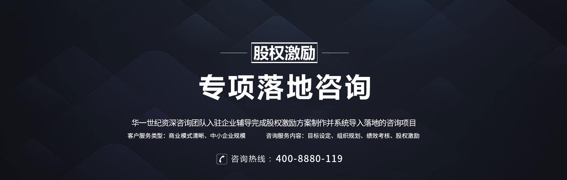 股权激励专项落地咨询